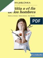 Laetitia o el fin de los hombres - Ivan Jablonka.pdf