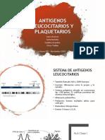 Antigenos de leucos y plaq