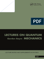 [Lecture Notes and Supplements in Physics] Gordon Baym - Lectures on Quantum Mechanics (1969,2018, The Benjamin _ Cummings Publishing Company, CRC)