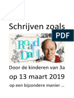Schrijven zoals Roald Dahl