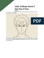 Cómo Aprender A Dibujar Anime Y Manga A Lápiz Paso A Paso.docx