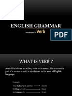 INTRODUCTION TO VERB