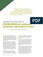 Problemas de calidad en productos Siderúrgicos