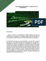 Diferencia Entre Derecho Informático y Derecho de La Informática