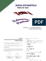 INFERENCIA ESTADÍSTICA Notas de Clase. Profesores_ a. Leonardo Bañuelos S. Nayelli Manzanarez Gómez