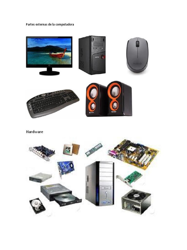 Hardware: Partes externas de la computadora