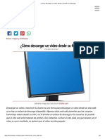 ¿Cómo Descargar Un Video Desde Su Fuente_ _ Techlandia