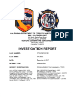 Thomas Fire Investigation Report March 13, 2019