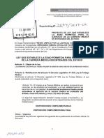 PL 3074 que establece la edad permitida para el ejercicio de la carrera médica en entidades del Estado