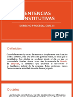 Sentencias Constitutivas