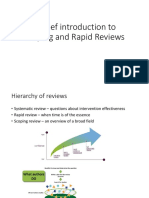 scoping and rapid Reviews