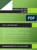 Discriminación en Clase Tutorias DJD,DAOM,LAPA