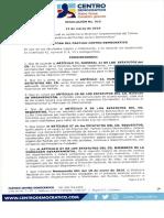 Resolucion No. 010 CD Tolima