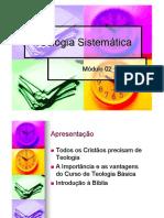Aula de Teologia Sistemática básica