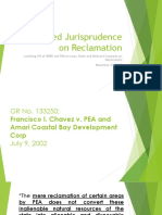 Related Jurisprudence on Reclamation