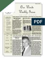 Newsletter Volume 10 Issue 10