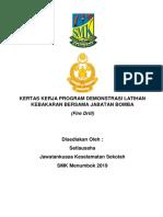 Kertas Kerja Latihan Kebakaran SMKM 2019