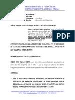 Ejecución de Acta de Conciliación (Lidia Cachicatari)..