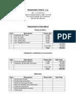 Presupuesto IMECA Hugo Arroyo (Modificado 2)