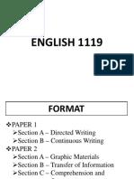 English 1119 Format - 2019