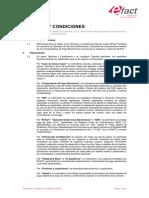 Terminos y Condiciones Validación Simple