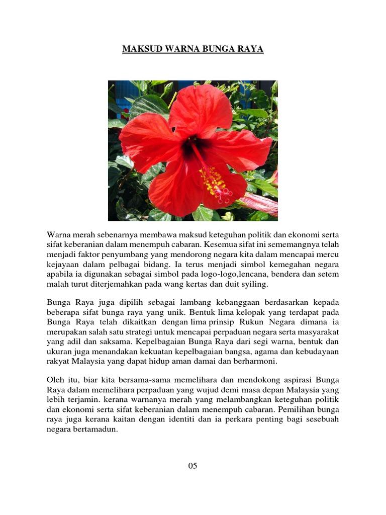 Maksud Warna Bunga Raya