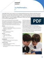 Cambridge Primary Maths (0845) Curriculam Syllabus