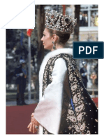Empress Farah of Iran at Her Coronation in 1967, Wearing the Crown and Jewelry Made for the Occasion by Van Cleef & Arpels.