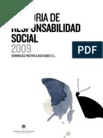 Memoria RSC_2009 - Regalo Responsable (Grupo Domínguez Pastor & Asociados)