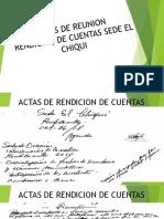 Actas Rendicion de Cuentas 2019