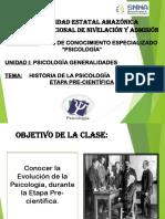 Clase 1. Historia de La Psicología Etapa Pre-cientifica