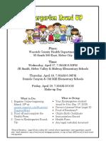 Kindergarten-Registration Flyer 2019-20