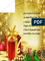 Tarjeta de Navidad Reymundo Ferrer