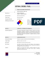 MSDS Petron Industrial Diesel Fuel