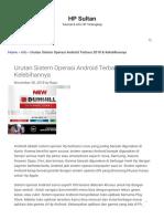 Urutan Sistem Operasi Android Terbaru 2018 & Kelebihannya