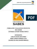 Formulacion y Evaluacion de Proyectos Estudio Técnico