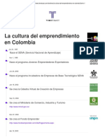 La Cultura Del Emprendimiento en Colombia TIMELINE