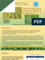 Implemento para aumentar la competitividad delos pequeños agricultores de arroz- Ecuador