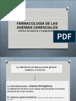 Farmacología de Las Anemias Carenciales 2015
