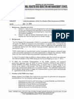 NDRRMC Memo No. 17 s 2014 Institutionalization of the Pre Disaster Risk Assessment