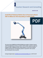 Aerial Work Platforms Market Size is Projected to Reach USD 16 Billion by 2026 Expanding at CAGR of 9.0%