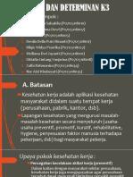 Batasan Dan Determinan k3