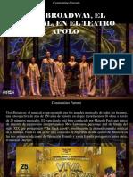 Constantino Parente - Viva Broadway, El Musical, En El Teatro Apolo