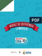 Matriz de Referencia Lenguaje