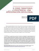 Maldonado-Torres, N. (2017). El arte como territorio de re-existencia - una aproximación decolonial. Iberoamérica Social - revista-red de estudios sociales VIII, pp. 26 - 28.pdf