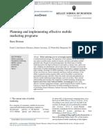 Business Horizons Volume issue 2016 [doi 10.1016%2Fj.bushor.2016.03.006] Berman, Barry -- Planning and implementing effective mobile marketing programs.docx