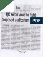 Malaya, Mar. 14, 2019, QC solon vows to fight proposed auditotium at QMC.pdf