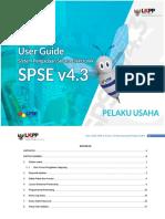User Guide SPSE v4.3 (Pelaku Usaha) Non Tender 14 Desember 2018
