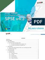 User Guide SPSE v4.3 User Pelaku Usaha Tender 25 Februari 2019