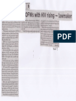 Philippine Star, Mar. 14, 2019, Number of OFWs with HIV rising - lawmaker.pdf